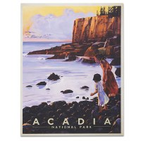Acadia National Park Otter Cliff Classic Travel Poster