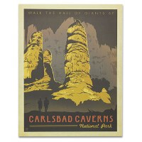 Carlsbad Caverns National Park Classic Travel Poster