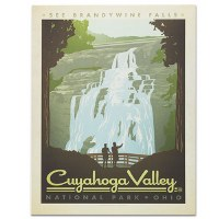 Cuyahoga National Park Classic Travel Poster