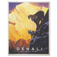 Denali National Park Classic Travel Poster