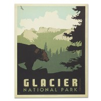 Glacier National Park Classic Travel Poster