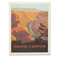 Grand Canyon River View Classic Travel Poster