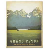 Grand Teton National Park Classic Travel Poster