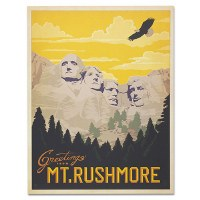 Mount Rushmore Classic Travel Poster