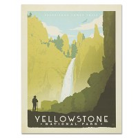 Yellowstone National Park Classic Travel Poster
