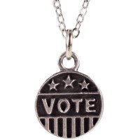Pewter ''VOTE'' Necklace