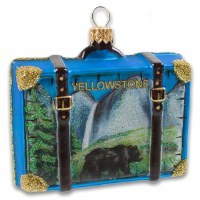 Yellowstone National Park Suitcase Holiday Ornament