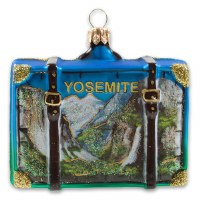 Yosemite National Park Suitcase Holiday Ornament