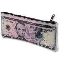 $5 US Banknote Zipper Pouch