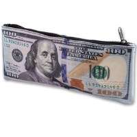 $100 US Banknote Zipper Pouch