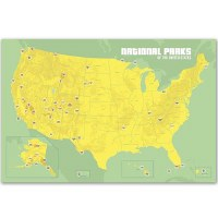 Mint and Green National Parks Collector's Pins Map