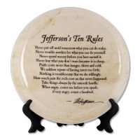 Jefferson's Ten Rules Plate