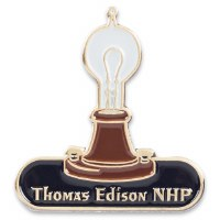 Thomas Edison NHP Collectible Light Bulb Pin
