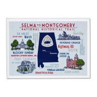Selma To Montgomery Typo Magnet