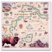 Badlands Map Coaster
