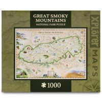 Great Smoky Mountains Map Puzzle