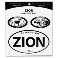 Zion National Park Triple Decal