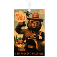 Wood Smokey Bear Ornament