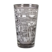 National Mall Map Pint Glass