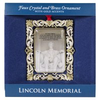 Lincoln Memorial Brass Ornament