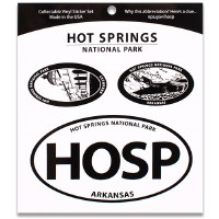 Hot Springs NP Triple Decal