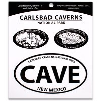 Carlsbad Caverns NP Triple Decal