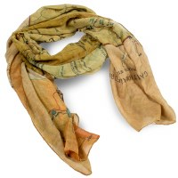 Yellowstone Map Scarf