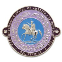 Confederate Seal Hiking Stick Medallion