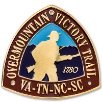 Overmountain Victory Trail Hiking Stick Medallion