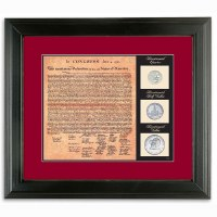 Birth of a Nation Declaration of Independence Framed Document and Coins