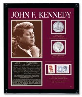 John F. Kennedy Framed Tribute With Coins