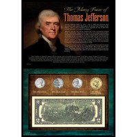 Many Faces of Thomas Jefferson Coin & Currency Set