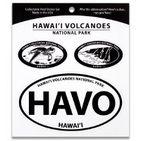 Hawai'i Volcanoes NP Triple Decal