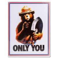Smokey Bear Tin Poster