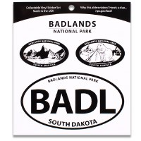 Badlands NP Triple Decal