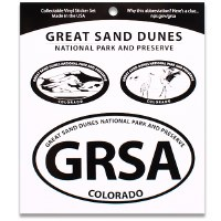 Great Sand Dunes NP Triple Decal