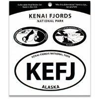 Kenai Fjords NP Triple Decal