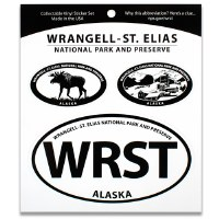 Wrangell-St. Elias NP Triple Decal