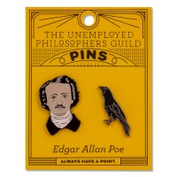 Poe and Raven Pin Set