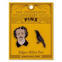 Poe and Raven Pin Set