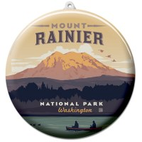 Mount Rainier Suncatcher Ornament