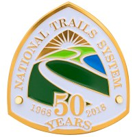National Trails Anniversary Hiking Medallion