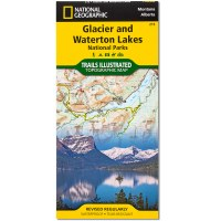 Glacier and Waterton Lakes NP Folded Map