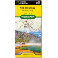 Yellowstone National Park Trails Illustrated Topographic Map