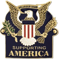 Supporting America Hiking Medallion