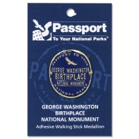 GW Birthplace Passport Hiking Medallion