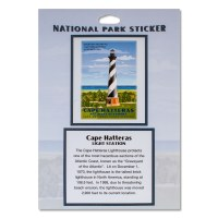 Retro Cape Hatteras Lighthouse Sticker