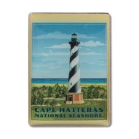 Retro Cape Hatteras Light Station Pin