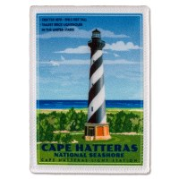 Retro Cape Hatteras Light Station Patch