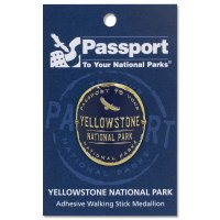 Yellowstone Passport Hiking Medallion
